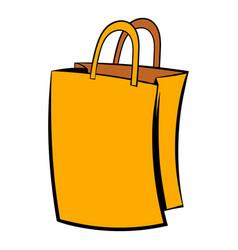 Paper shopping bag icon icon cartoon vector