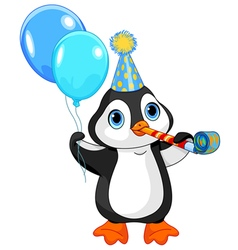 Penguin Birthday vector