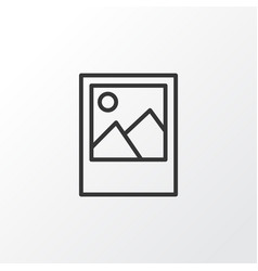 picture icon symbol premium quality isolated vector image