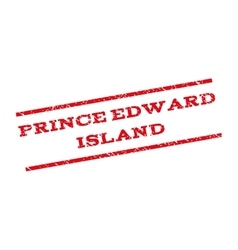 Prince Edward Island Watermark Stamp vector