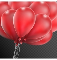 Realistic red balloons EPS 10 vector image
