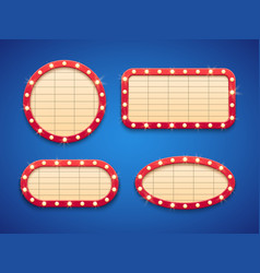 Retro cinema or theater lights marquee banner vector