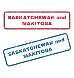 Saskatchewan and Manitoba Rubber Stamps vector