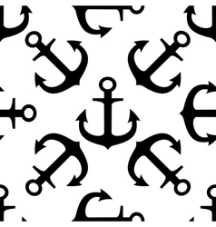 Seamless pattern of ships anchors vector