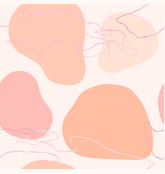 seamless pattern with colorful hand draw abstract vector image