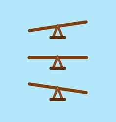 Seesaw balance measurement vector