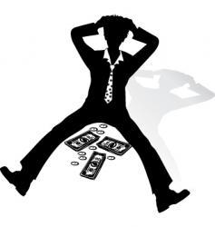 shocked businessman vector image