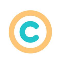 sign copyright symbol flat icon vector image