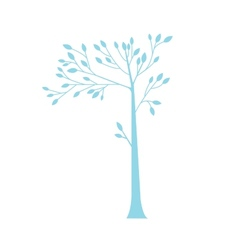 Simple blue tree vector image