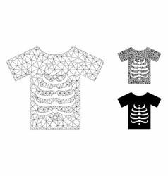 Skeleton t-shirt mesh carcass model and vector