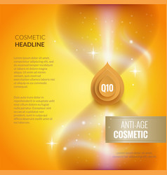 skin care anti-age cosmetic template golden poster vector image