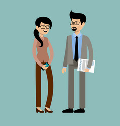 smiling business people office workers vector image