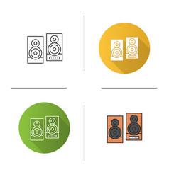 speakers icon vector image