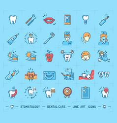 Stomatology icon dental care logo children vector