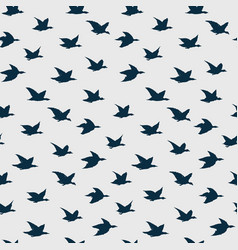 swallow birds seamless pattern with flying vector image