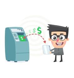 theft money using modern technology vector image