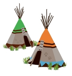 Tipi traditional dwelling indigenous people vector