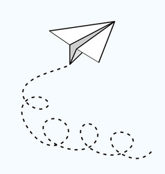 Travel design with paper airplane stock vector