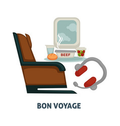 travel or trip voyage icon of airplane seat vector image