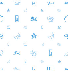 tropical icons pattern seamless white background vector image