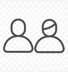 user profile man and woman icon isolated on vector image