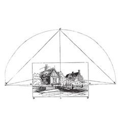 vertical line parallel to coordinate plane vector image
