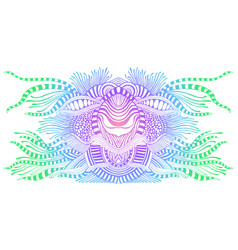 Vintage colorful alien fantastic psychedelic vector