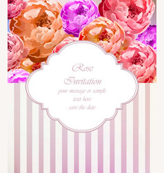 vintage roses card retro beautiful bouquet vector image