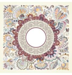 watercolor flower ethnic design vector image vector image
