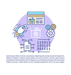 web development article page template binary vector image