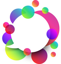 White speech background with colour bubbles vector