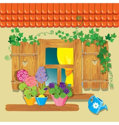 window summer 380 vector image