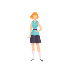 Young woman wearing vintage clothing retro vector