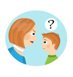 conflict between mother and child vector image vector image