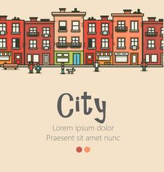 flat design modern urban landscape and city vector image