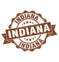 Indiana round ribbon seal vector
