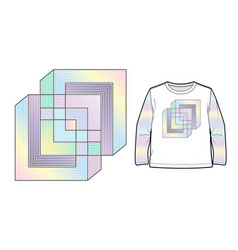 multicolored abstract geometric composition vector image vector image
