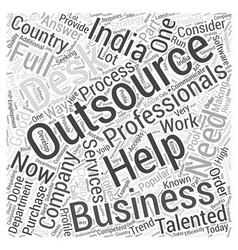 Outsourcing india word cloud concept vector