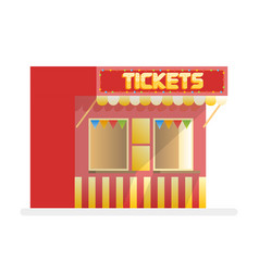 tickets sale red kiosk cartoon vector image