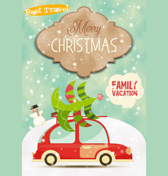 xmas poster winter holidays vector image vector image