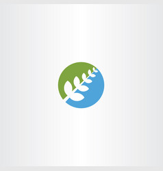 bio plant green blue icon herb natural health vector image