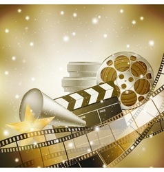 cinema film background vector image vector image