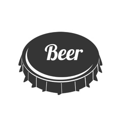 icon caps beer drink liquid isolated vector image vector image