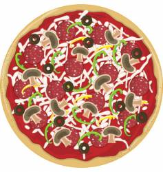 pizza whole vector image