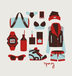 woman clothes and accessories vector image vector image