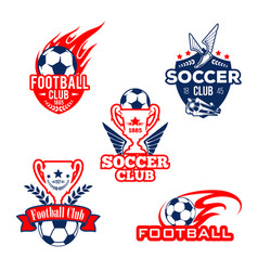 football sport club soccer game competition badge vector image