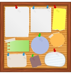 old paper notes vector image