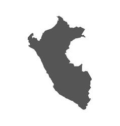 peru map black icon on white background vector image