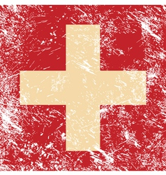 Switzerland retro flag vector image vector image
