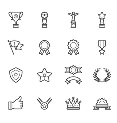 Trophy Prize and Awards Icons vector image